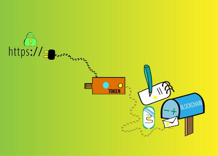 Blockchain technologies Ilustracja