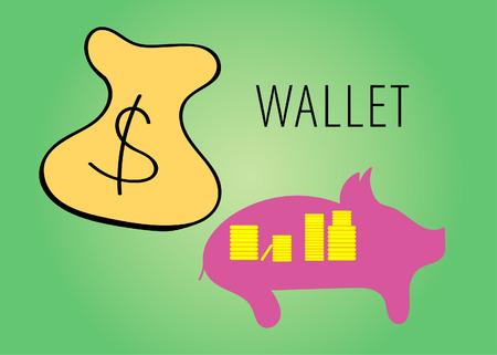 the wallet illustration 写真素材 - 108961159
