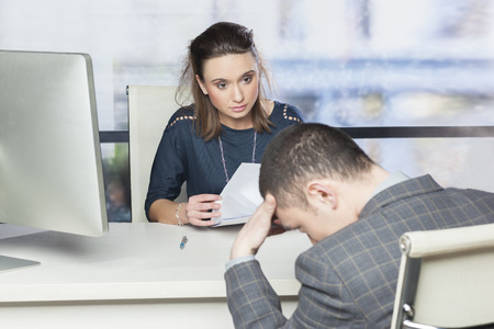 people at work: Job interview gone wrong Stock Photo