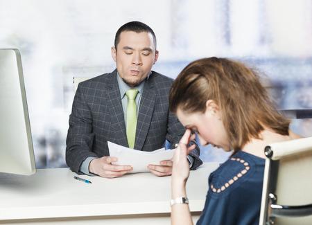 puesto de trabajo: Entrevista mal trabajo