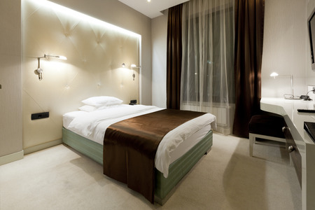 Luxury hotel bedroom photo
