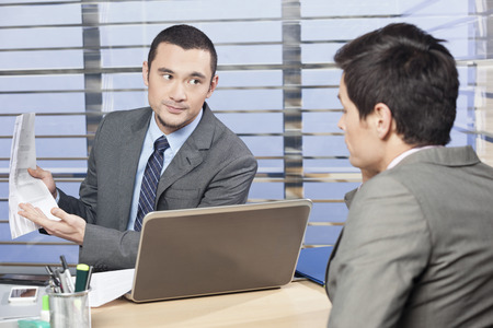 review: Manager discussing performance review with employee
