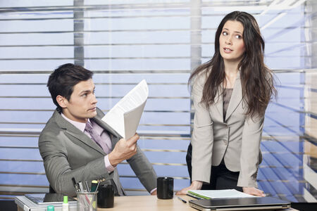 complaints: Businesswoman annoyed with managers complaints