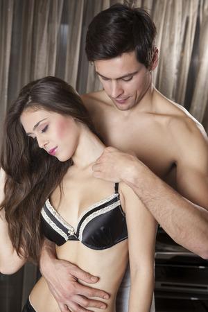 foreplay: Beautiful sensual couple