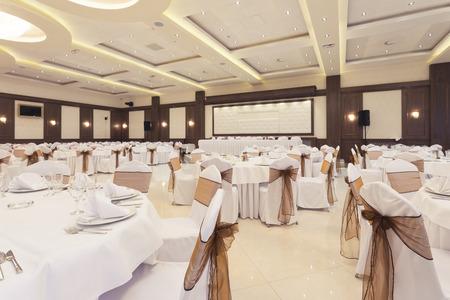 Bankettsaal für besondere Anlässe eingerichtet Standard-Bild