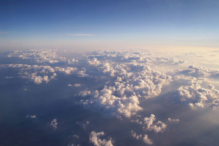 bove: Beautiful clouds shot from above Stock Photo