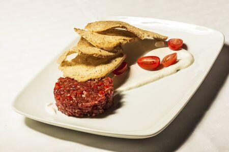 steak tartare: Steak tartare Stock Photo