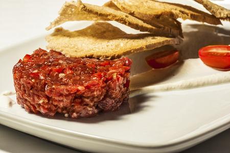 tartare: Steak tartare Stock Photo