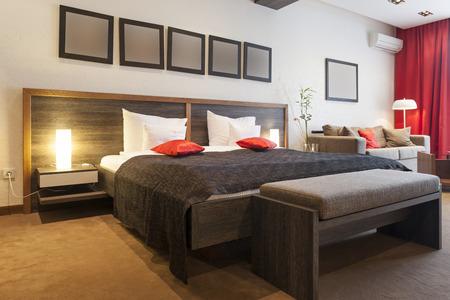 Model hotel room interior