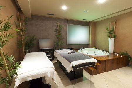 Spa center massage room photo