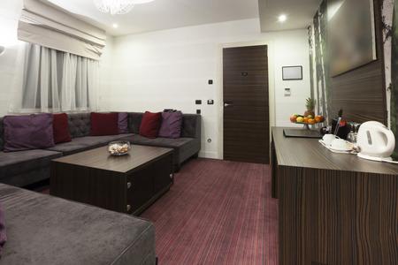 hotel suite: Hotel suite living room interior