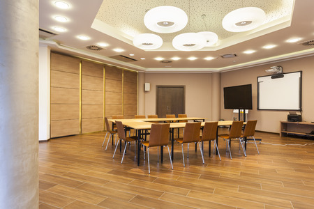 office space: Interior of a modern conference room Stock Photo