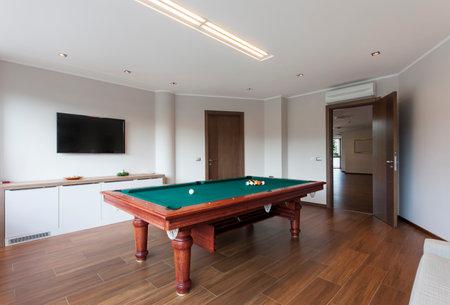 pool room: Pool room with tv