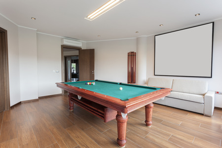 pool room: Pool room with empty picture frame