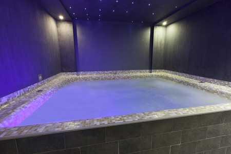 Big jacuzzi with ambient lights