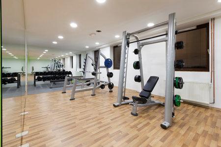 weight room: Modern gym interior