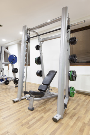 incline: Incline weight bench in gym