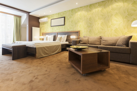 accommodation space: Modern spacious hotel room