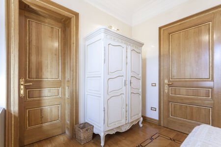 antique furniture: Antique cupboard in a room Stock Photo