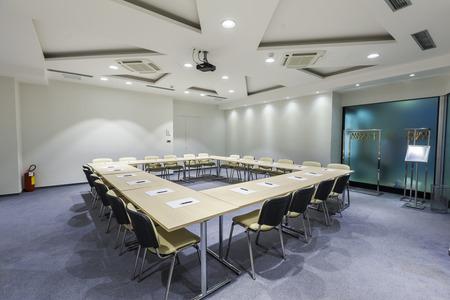iluminacion: Interior de sala de juntas moderna Foto de archivo