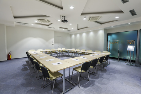Modern boardroom interior photo