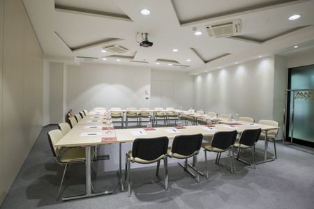 Modern conference room interior photo