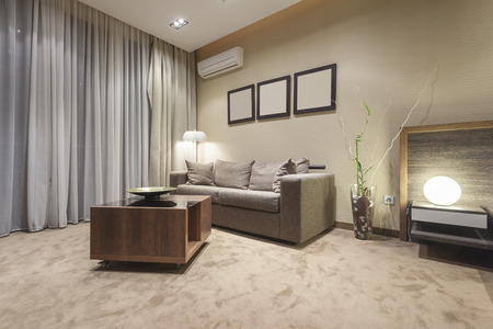room air: Living room interior