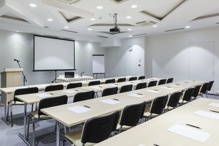 Moderne collegezaal Stockfoto