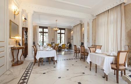 Interior of a luxury restaurant Stockfoto