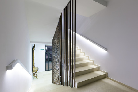 Stairs in a modern building Banco de Imagens
