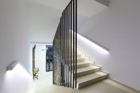 Stairs in a modern building Standard-Bild