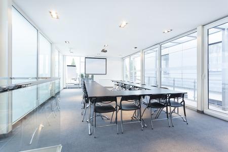 Modern bright conference room interior