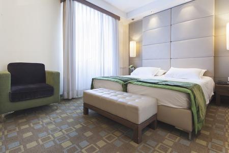 Luxury bedroom interior photo