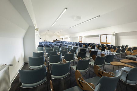 Modern lecture hall interior Stock Photo