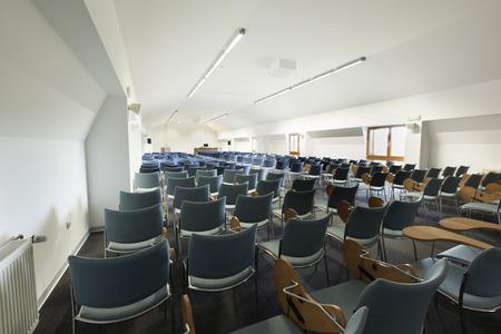 board room: Modern lecture hall interior Stock Photo