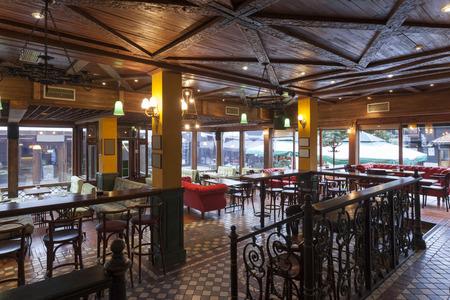 bannister: Interior of a pub