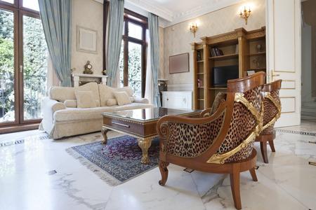 lavish: Luxury home interior Stock Photo