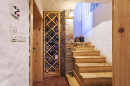 Wine cellar in a home