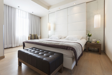 hotel bedroom: Luxury bedroom interior