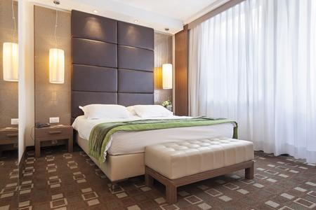 hotel room door: Luxury bedroom interior