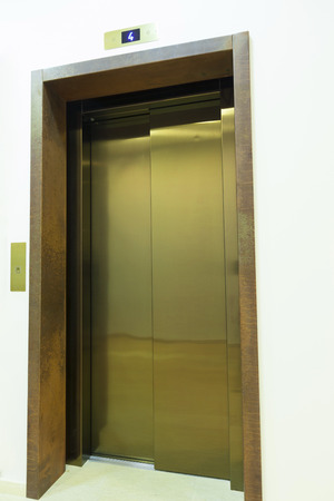 Elevator with closed door photo