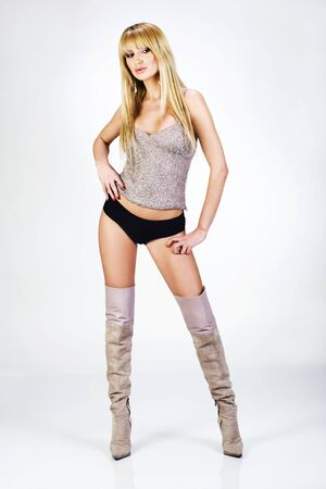 spaghetti strap: Young woman in sexy clothing