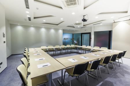 Moderne bestuurskamer interieur Stockfoto