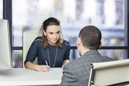 manager: Job interview Stock Photo