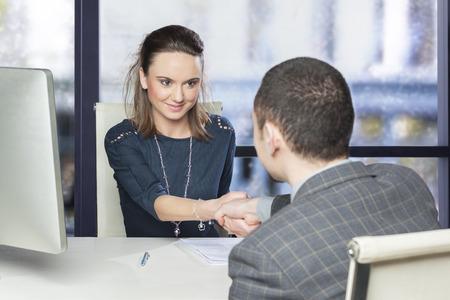 Successful job interview photo