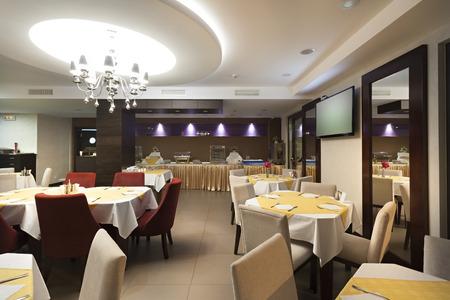 Restaurante elegante interior