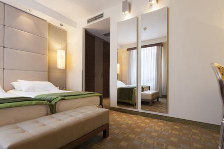 Elegante slaapkamer interieur Stockfoto