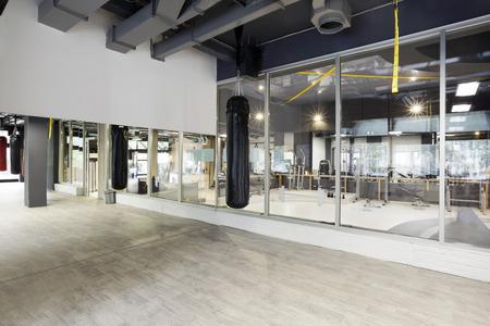 punching: Punching bag in gym Stock Photo