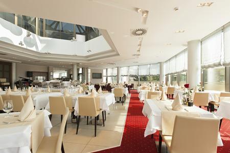 Bright restaurant interior