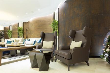 Elegant hotel lobby Stock Photo